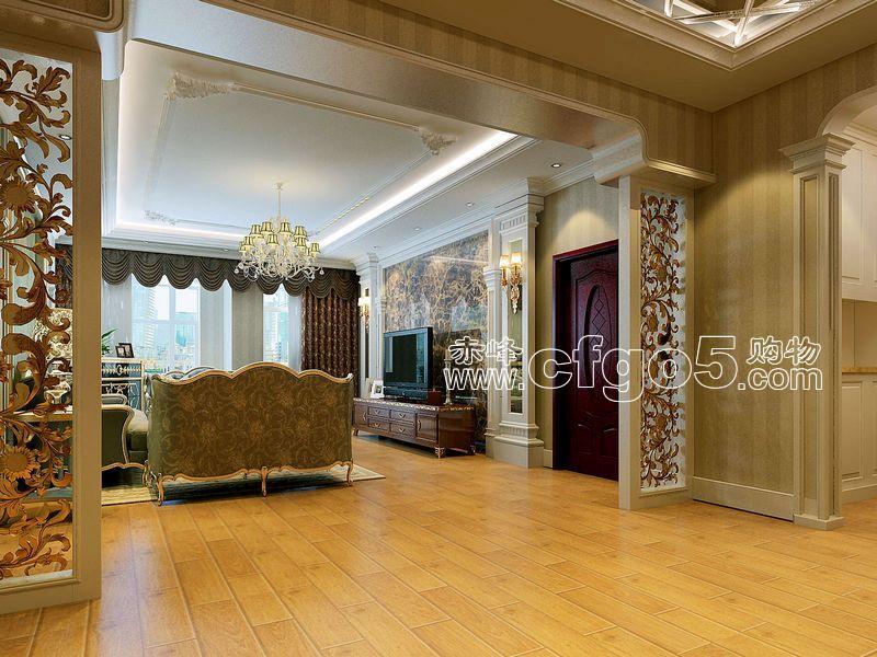 赤峰购物网 客厅造型垭口 赤峰室内装饰效果图